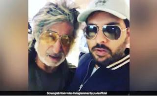 Yuvraj Singh met Shakti Kapoor at Mumbai airport