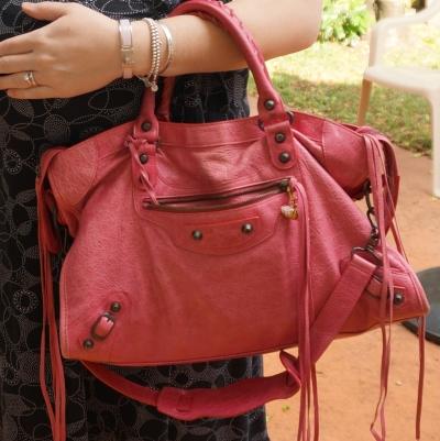 AwayFromTheBlue | Balenciaga RH classic city in 2010 sorbet Hermes pink clic clac