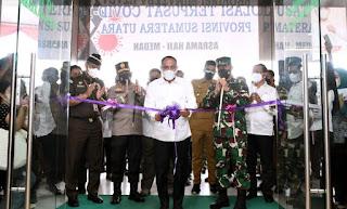 Edy Rahmayadi Resmikan Isolasi Terpusat di Asrama Haji Medan, 400 Tempat Tidur untuk Perawatan Pasien Covid-19 Disediakan Gratis