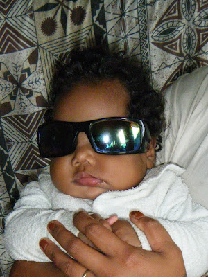 baby with sunnies
