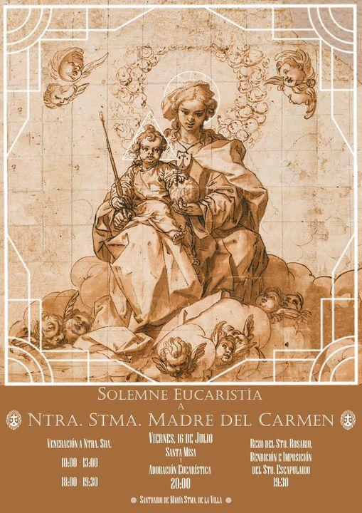Cartel anunciador festividad de la Virgen del Carmen de Martos 2021