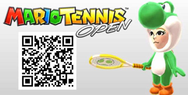 Play Game Codigos Qr Mario Tennis Open De Nintendo 3ds Personajes