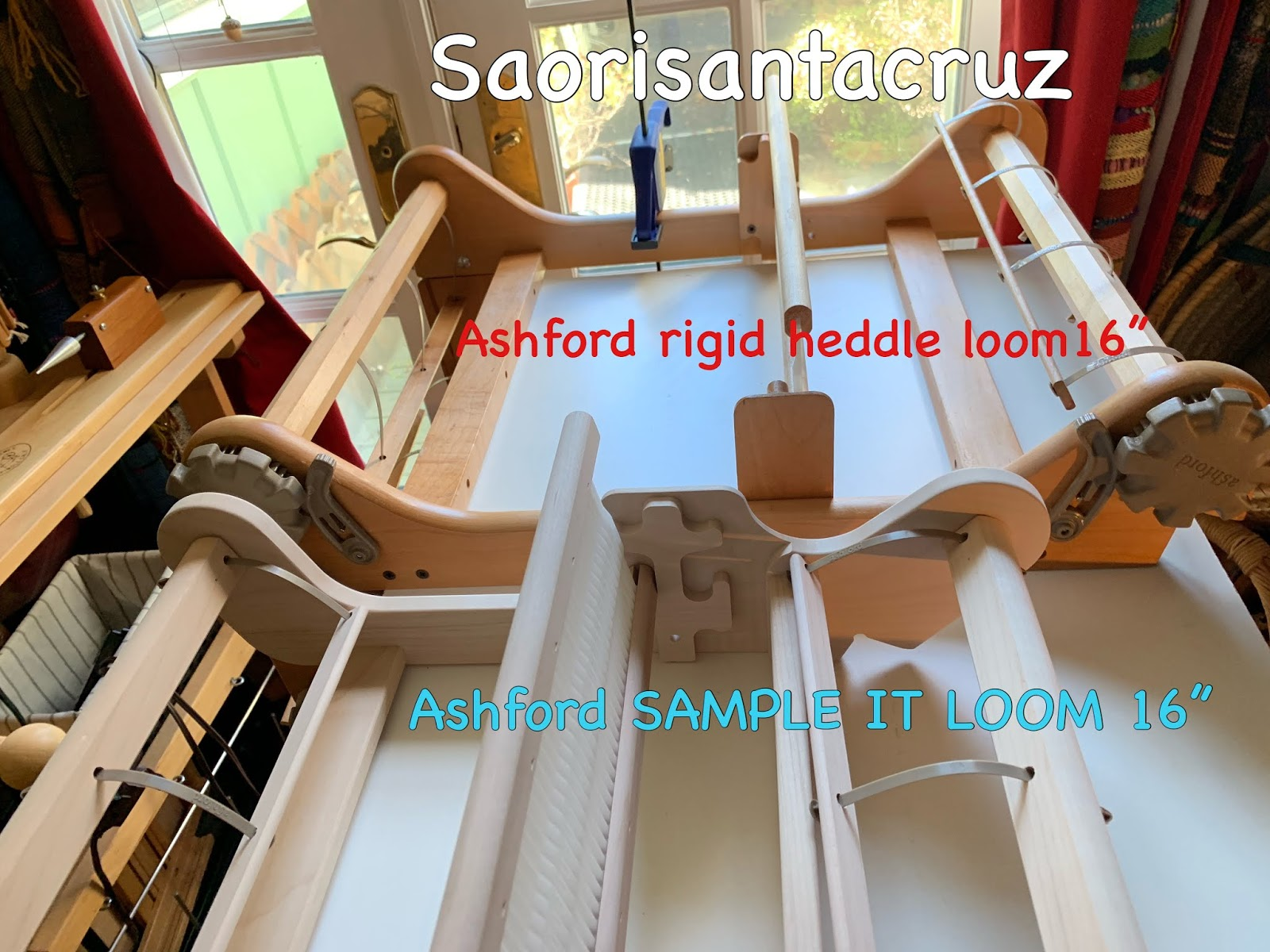 CENTERING WITH FIBER: Ashford rigid heddle loom comparisoms