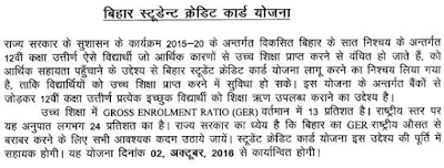 Bihar Student Credit Card Loan Scheme News