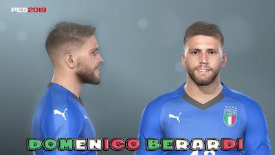 PES 2019 Faces Domenico Berardi by Prince Hamiz