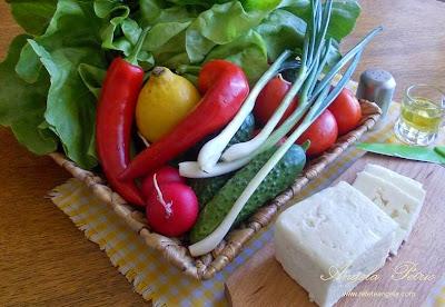 Preparare salata de cruditati-etapa 1