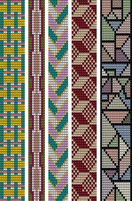 Wzory koralikowych bransoletek na krosno - geometryczne