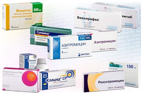 Популярные антибиотики группы макролидов