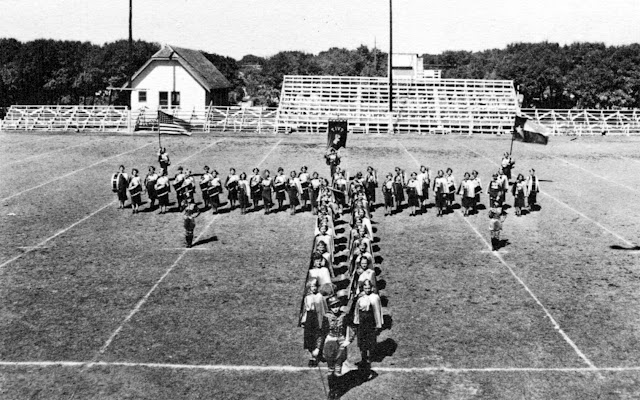1938 Tivy Bugle Corps taken on Antler Field, on Tivy Street