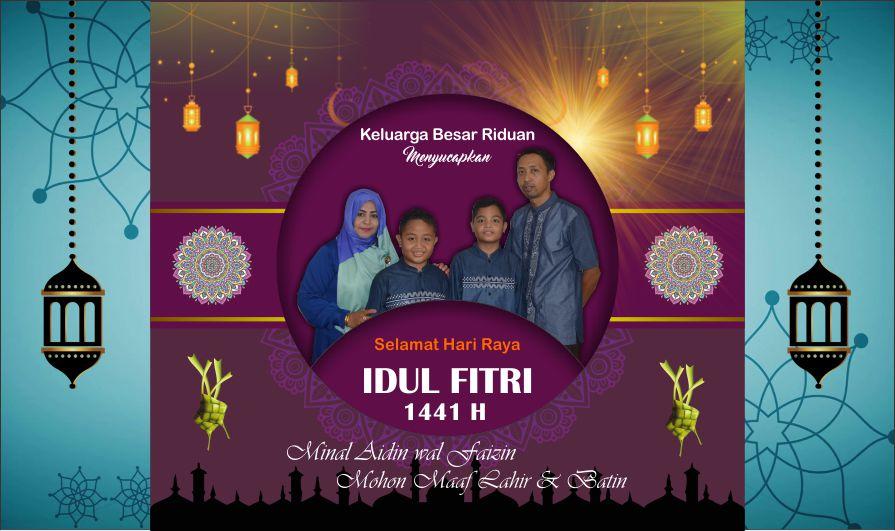 Template Kartu Ucapan Hari Raya Idul Fitri 1441 H dengan ...