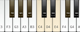 F# or G flat whole tone scale