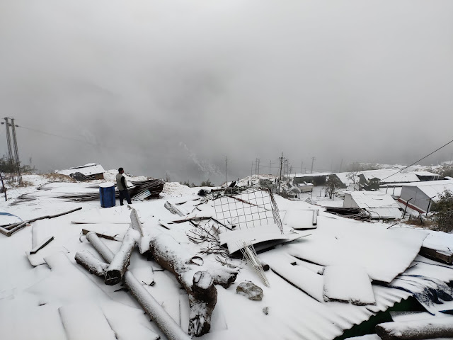 Nathu la Pass, Snow-Fall at Nathu-La, नाथुुुुु-ला बॉर्डर, सिक्क्मि