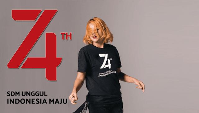 Contoh Desain Kaos HUT RI ke 74 Gaya Milenial