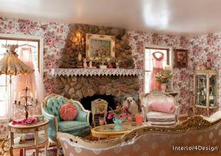 Inscriptions Of Roses In The Interior Design 17