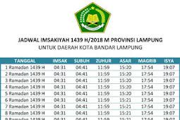 Lengkap! Jadwal Imsakiyah 2018 Kota Bandar Lampung dan Sekitarnya