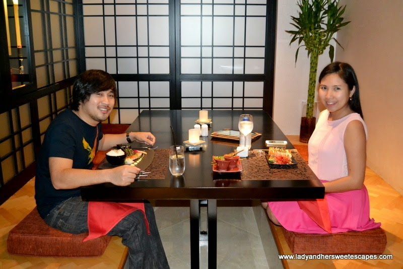 a Japanese dinner date in Dragon's Place at The Ajman Palace