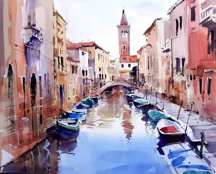 09-Boats-used-as-cars-Paintings-Milind-Mulick-www-designstack-co