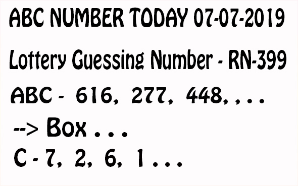 Lottery guessing - ABC number,