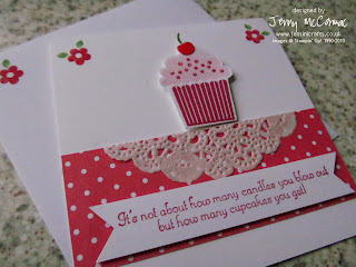 Create a CUPCAKE stamp set Stampin up Jenny McCormac