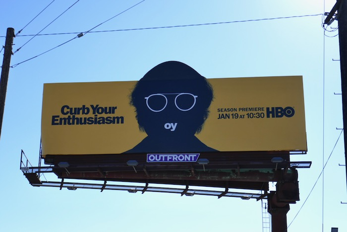 Curb Your Enthusiasm s10 cut-out billboard