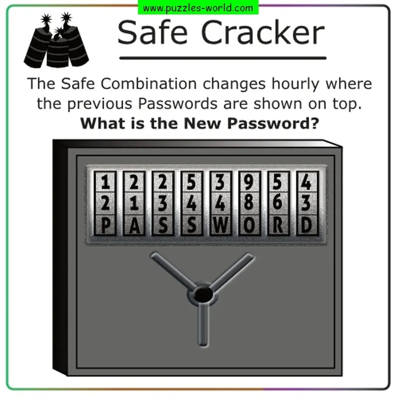 Safe Cracker Password Puzzle