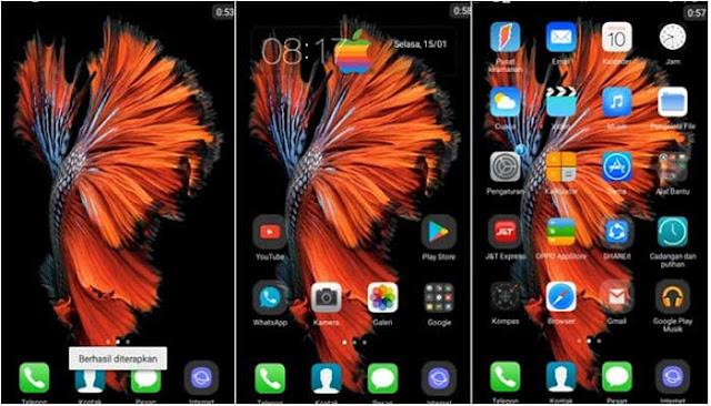 Tema iPhone 11 untuk Oppo Tembus Akar