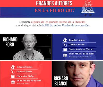 GRANDES AUTORES EN LA FILBO 2017