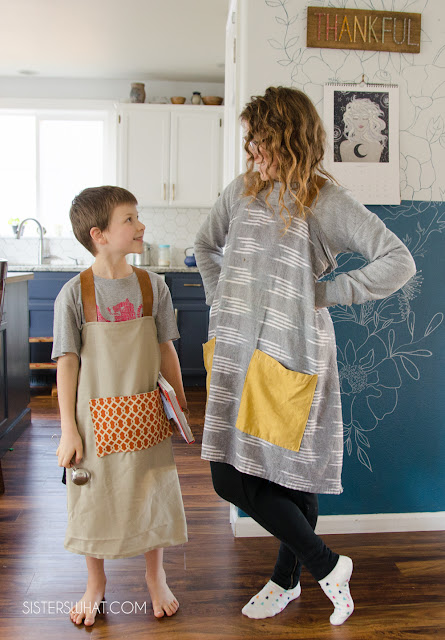 how to sew a farmhouse apron kids