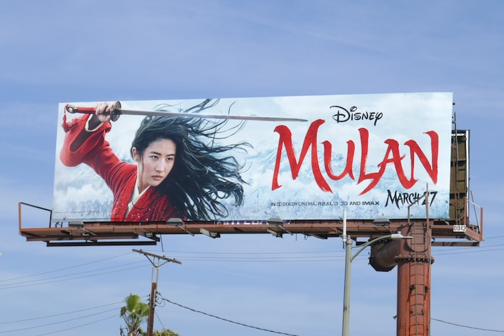 Disney Mulan film billboard