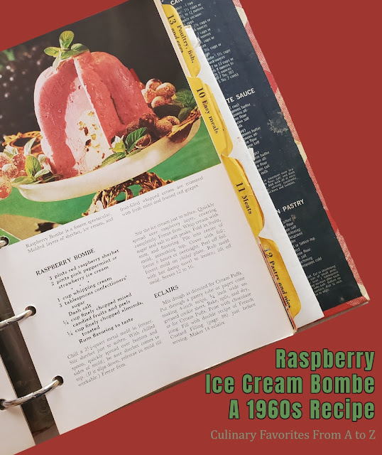Raspberry Ice Cream Bombe: A Vintage 1960s Recipe