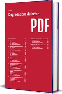 Guide pratique du béton Dégradations du béton PDF, colorations, segégation et perte de pâte ou de mortier fin, Efflorescences, Fissures, Dégradations dues au gel/dégel en l'absence ou en présence de sels de déverglaçage, Dégradations dues aux attaques chimiques dissolvantes, Dégradations dues aux attaques par des sulfates, Dégradations dues à la réaction alcalis-granulats, Dégradations liées à la corrosion de l'armature