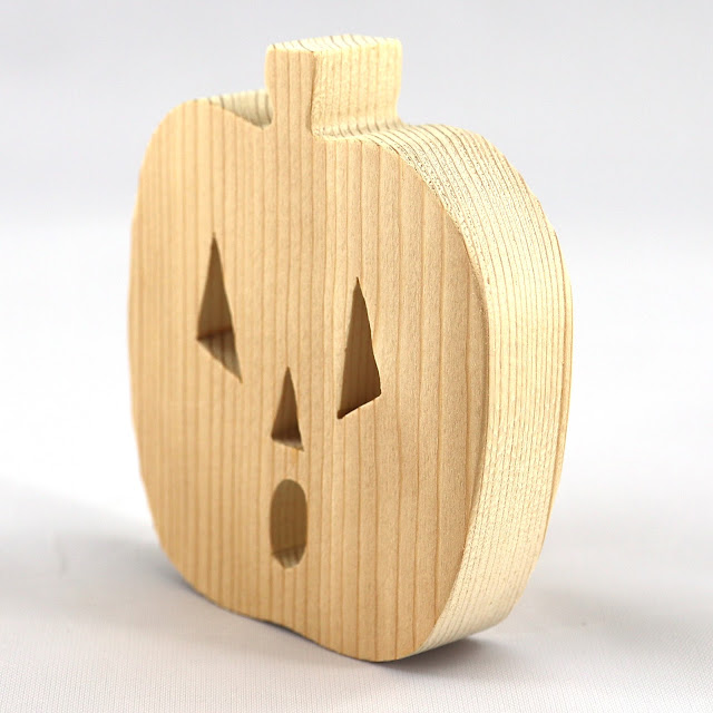 Handmade Wood Halloween Jack-o-lamtern Cutout