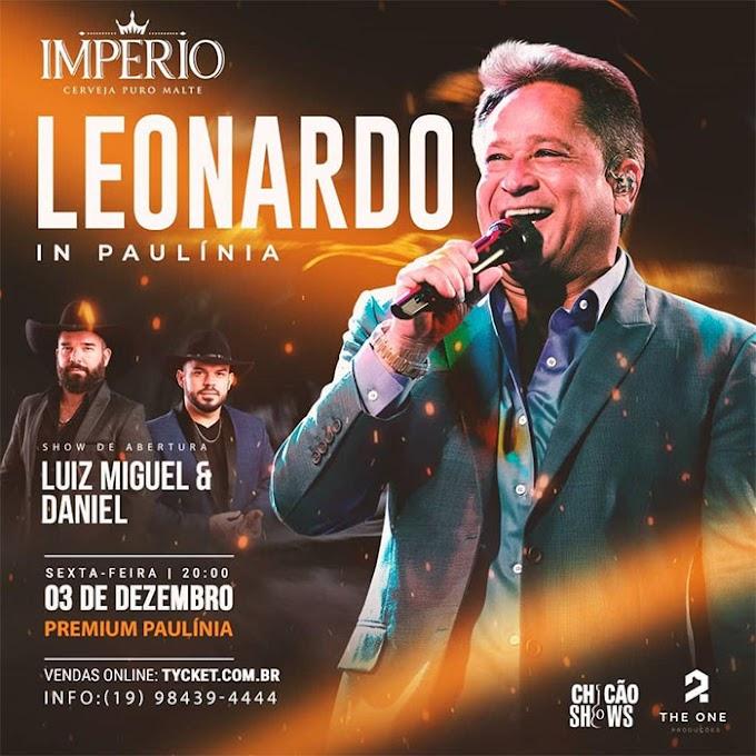 Leonardo realiza show em Paulínia