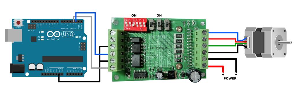 chip piko, Schematic TB6560 Arduino, Rangkaian TB6560 Arduino, Cara Menggunakan TB6560 Stepper Motor Driver Arduino