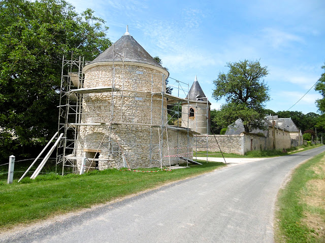 Towers at the entrance to the Chateau des Effes, Indre. France. Photographed by Susan Walter. Tour the Loire Valley with a classic car and a private guide.