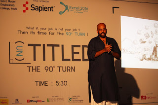 Speaker at Untitled 90 - Excel 2016 - Model Engg College, Kochi