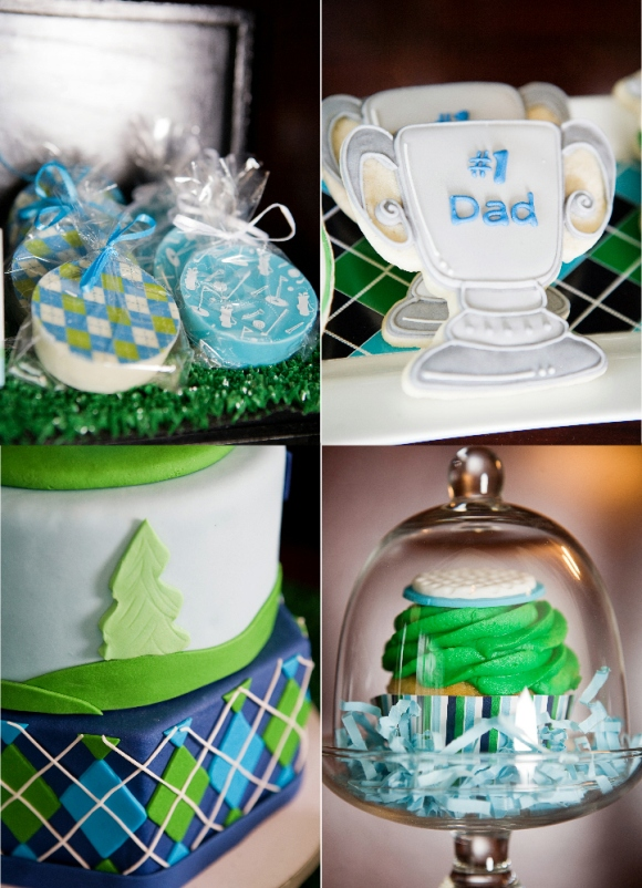 Golf Party Ideas and Printables Desserts Table Cakes and Cupcakes  - via BirdsParty.com