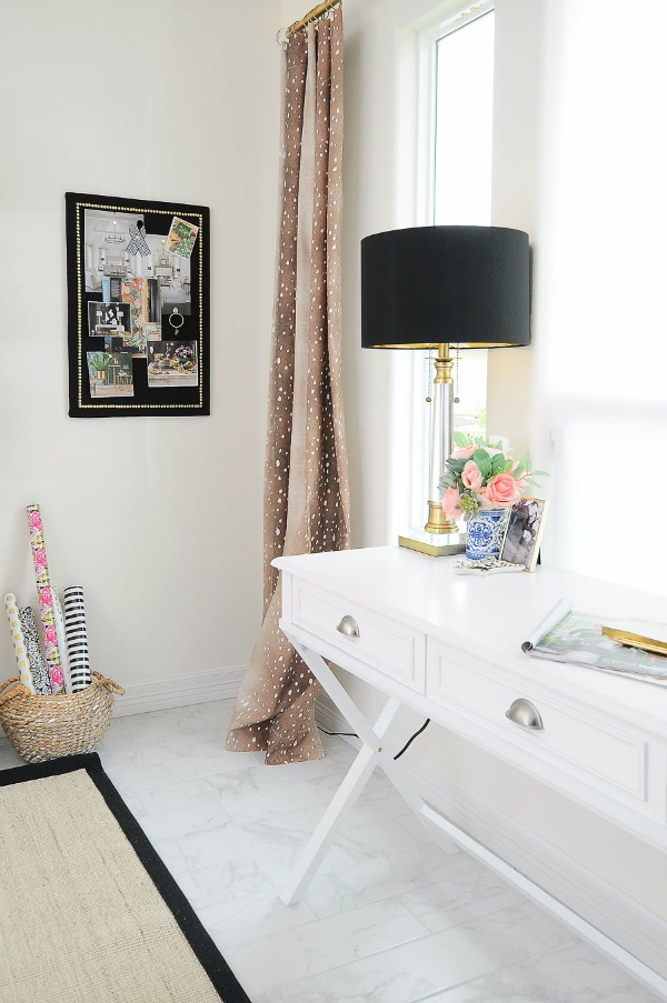 chic home office with neutrals