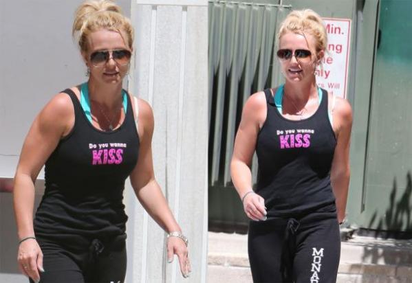 Britney Spears Do you wanna KISS shirt straight outta gym in 2013.  PYGear.com
