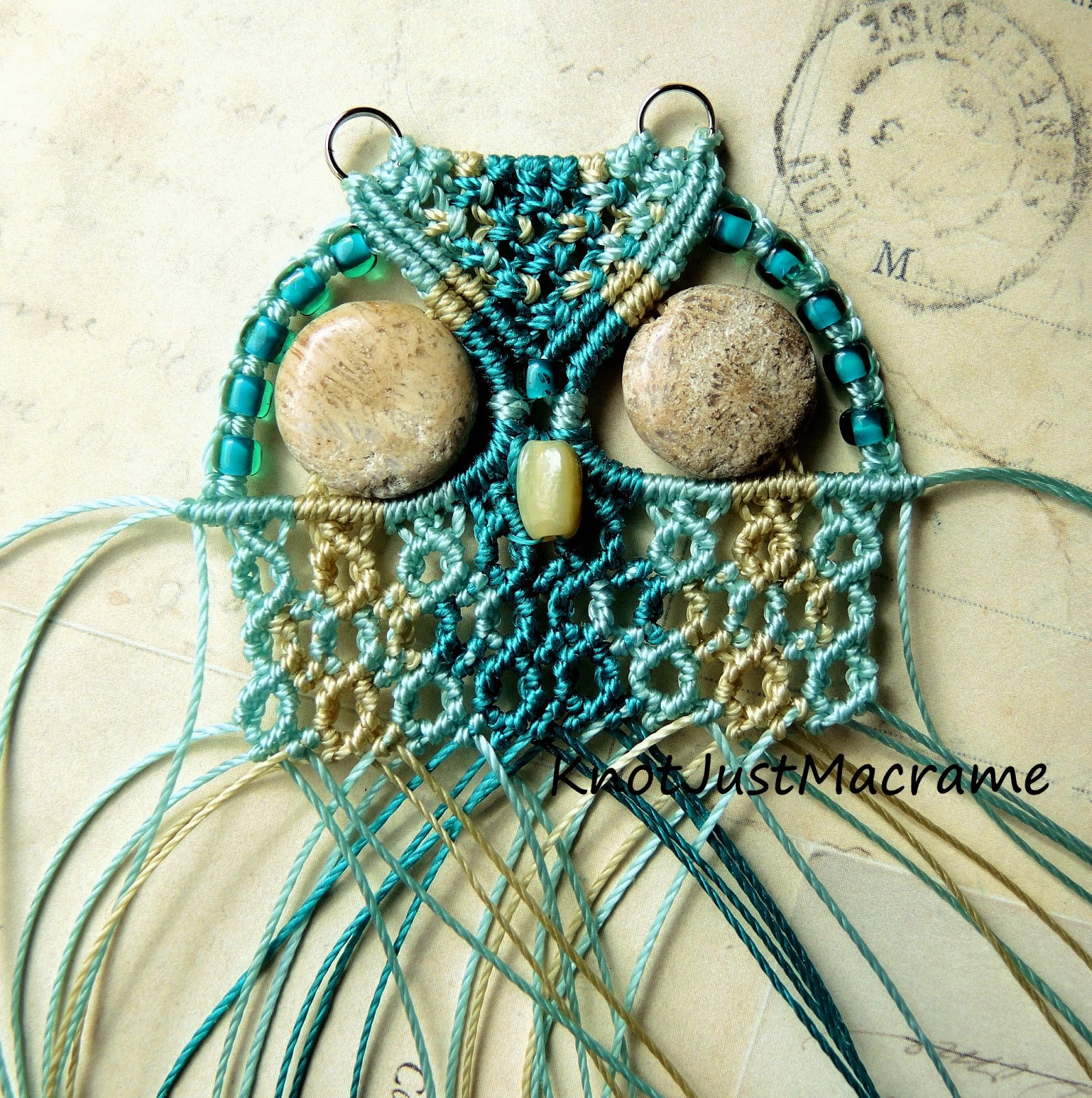 macrame owls knot just macrame by sherri stokey and then there were owls 3359