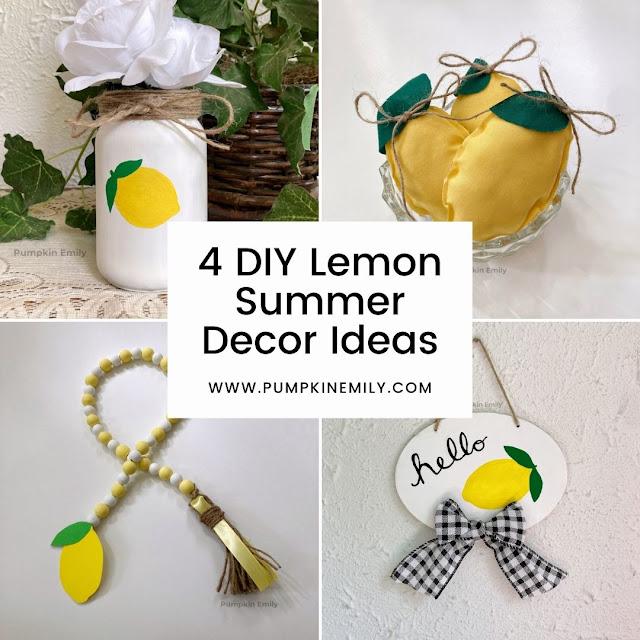 Four DIY lemon summer decor ideas