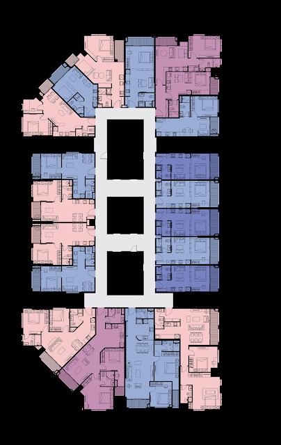 Mặt bằng tầng 4 5 6 dự án Tân Hoàng Minh Phú Thượng