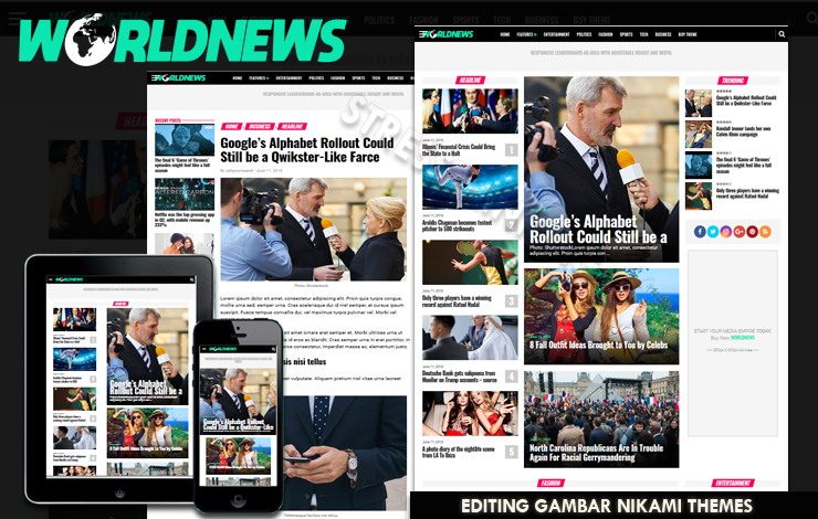 World News Magazine V2.1 Responsive Blogger Template