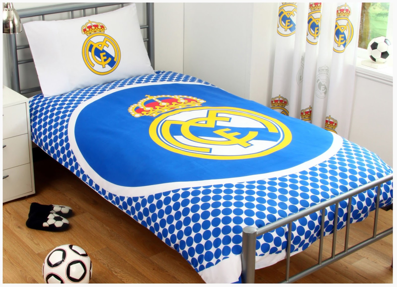 Cool Boys Bedroom Decoration with Real Madrid Theme - Home Design Ideas