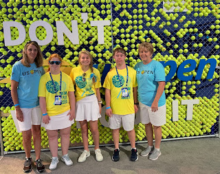 Montgomery Catholic Student Volunteers with US Open Dream Court Delegation 2