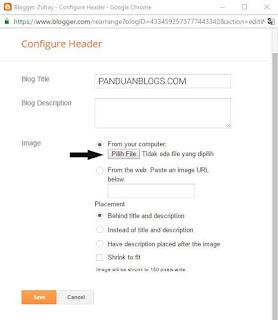 Mengganti Judul Blog dengan Logo