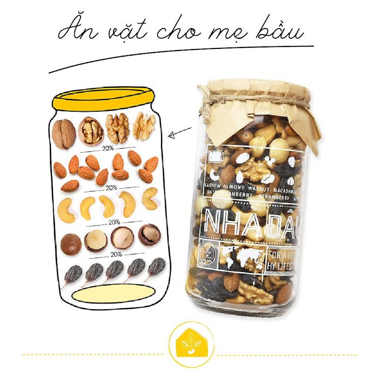 Mua combo dinh dưỡng Mẹ Bầu Mixnuts và Mixfruits Nhà Đậu