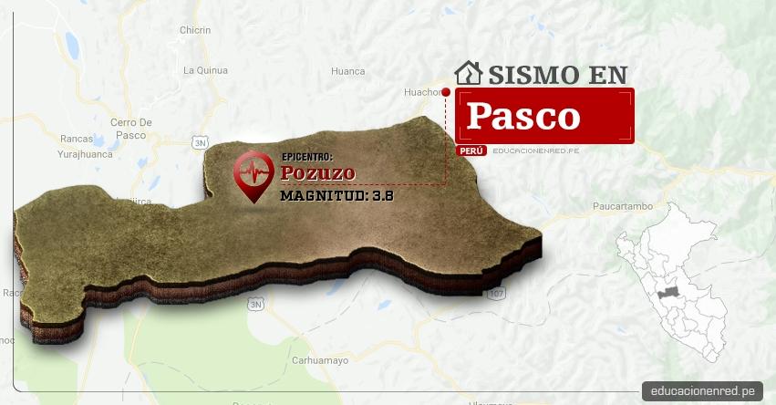 Temblor en Pasco de 3.8 Grados (Hoy Lunes 6 Marzo 2017) Sismo EPICENTRO Pozuzo - Oxapampa - IGP - www.igp.gob.pe