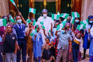 I Promise To Make A Better Nigeria – President Buhari Tells Children
