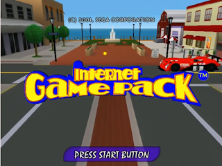 Internet Game Pack Sega Dreamcast title screen